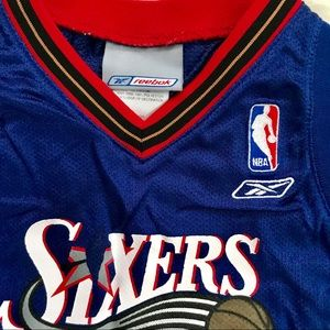 2ea1d2ae7 Reebok Shirts   Tops - Sixers Iverson Toddler Jersey.